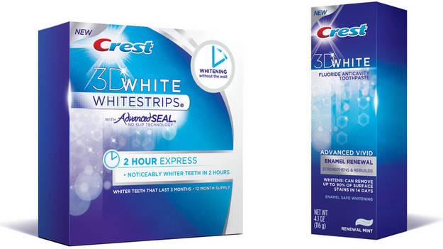 Отбеливающих полосок crest whitestrips 3d white